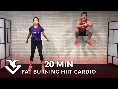 20 Minute Fat Burning HIIT Cardio Home Workout Without Equipment - Full Body No Equipment Workout