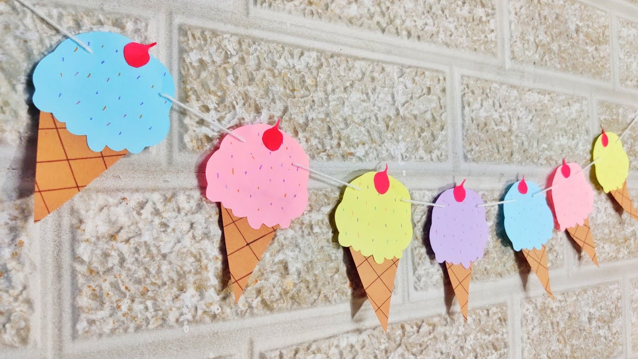 Ice Cream Theme Party Ice Cream Party Banner Party Decoration Ideas Partydecoration Party Youtube
