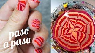 Cómo hacer pegatinas de uñas | DECORACIÓN AL AGUA