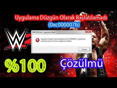 WWE 2K16 - Uygulama Düzgün Olarak Başlatılamadı (0xc000007b) Hatası Çözümü
