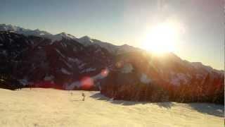 Saalbach Austria Заальбах Австрия Горные лыжи в Австрии Прекрасный день