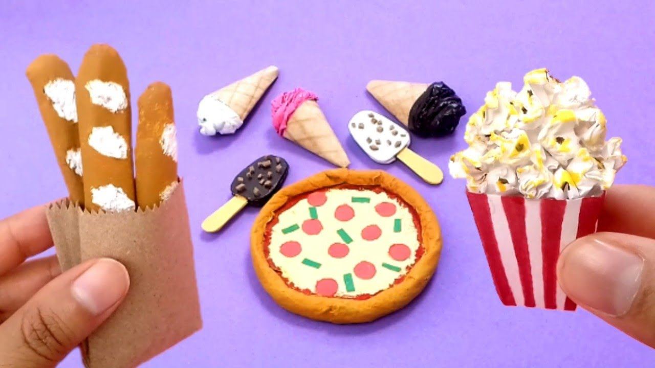 5 DIY Miniature food | How to make Miniature food with Paper