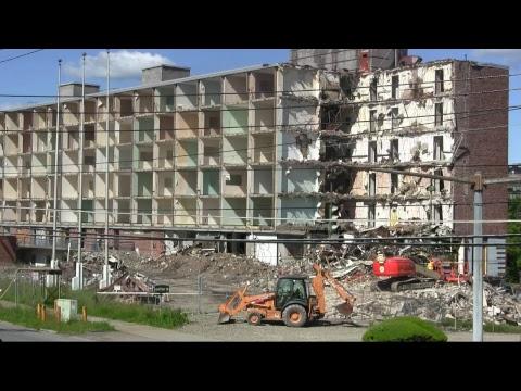 June 7th 2017 Demolition of the old Sheraton Hotel in Binghamton New York
