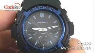 casio g shock awg m100a 1a с функцией быстрого перевода стрелок
