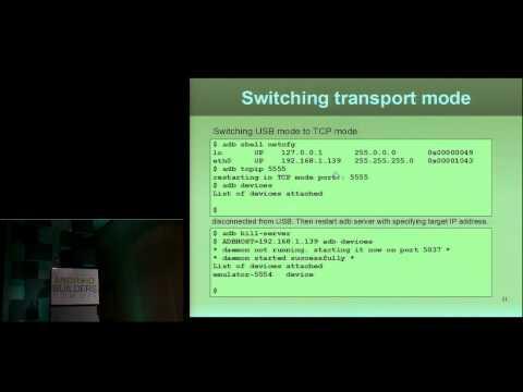 ADB (Android Debug Bridge)  How It Works - Android Builder Summit 2012