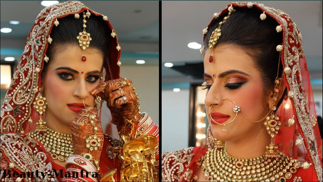 Cultural Wedding Makeup : Traditional Indian Bridal Makeup - YouTube