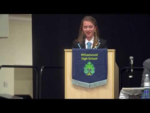 Williamwood High School Head Girl Speech 2017