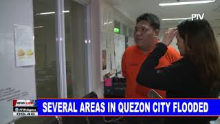 Several areas in Quezon City flooded
