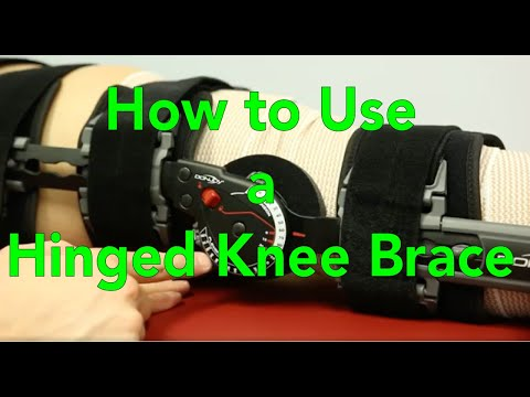 Hinged Knee Brace Use