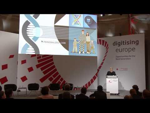 "Renée J. James (Intel Corporation) at the ""digitising europe"" summit in Berlin"