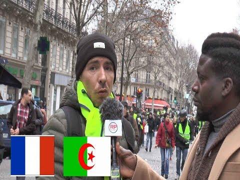 Acte IX : Un Gilet Jaune d'origine algérienne menace de rentrer en Algérie pour ne pas subir Macron