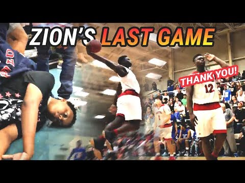 ZION GOES CRAZY IN LAST HIGH SCHOOL GAME EVER! FULL HIGHLIGHTS