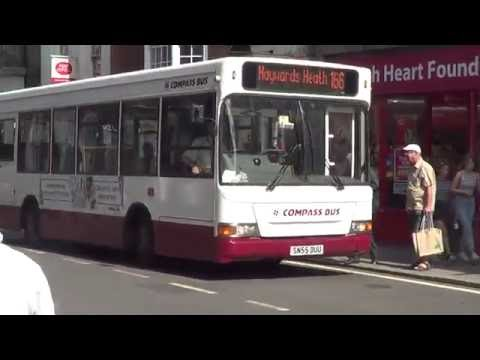 Compass Bus route 166 at the Lewes High Street, 29th July 2016