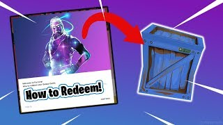 *UPDATE* How to REDEEM Galaxy Skin WITHOUT Preordering (Fortnite Battle Royale)