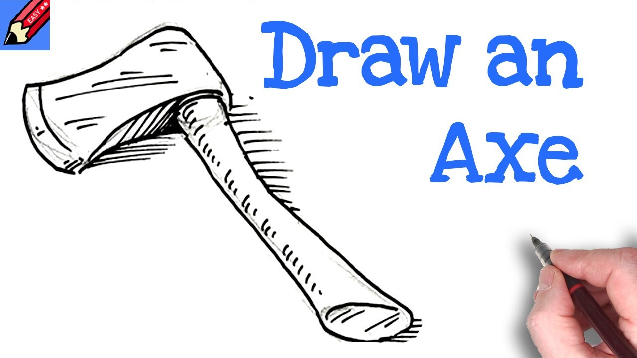 How to draw an axe real easy youtube how to draw an axe real easy ccuart Image collections