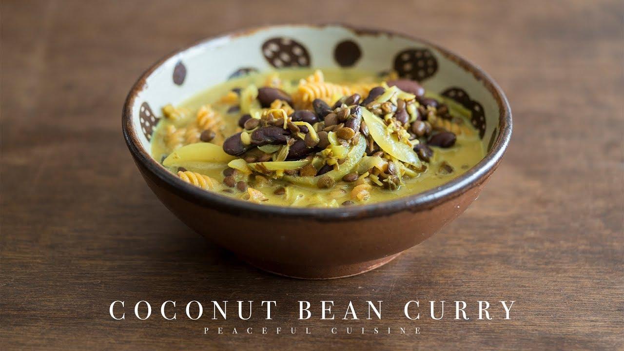 Coconut Bean Curry (vegan) ☆ ココナッツと豆のカレー