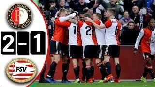 Feyenoord vs PSV Eindhoven 2-1 Goles & Resumen   ASISTENCIA DE ERICK GUTIERREZ   02/12/2018 HD