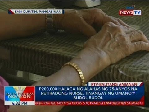 P200,000 halaga ng alahas ng 75-anyos na retiradong nurse, tinangay ng umano'y budol-budol