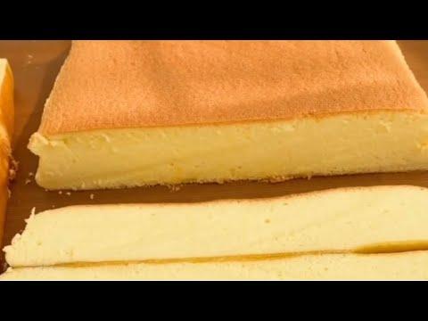 Cách Làm BÁNH BÔNG LAN PHÔ MAI Nhật Bản Mềm Mịn Tại Nhà | Japanese Cheese Sponge Cake |Bếp Nhỏ
