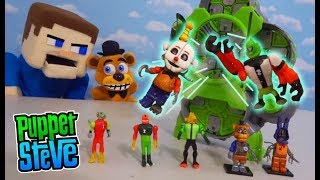 FNAF PLUSH FREDDY Plays with the BEN 10 Alien CREATION CHAMBER! Awesome Unboxing!