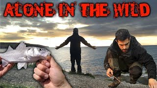 3 Days Alone iฑ the Wilderness - Fishing, Bushcraft & Foraging for Wild Food