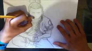 How to Draw Shikamaru Nara-奈良シカマル- Naruto