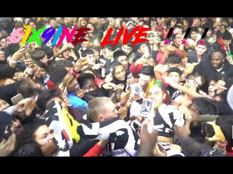 6ix9ine & Pvnch - LIVE PERFORMANCE of KOODA , GUMMO & KEKE IN QUEENS NY @ Club Amadeus (12-28-2017)