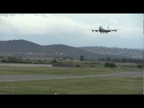 Air Force One Landing in Canberra