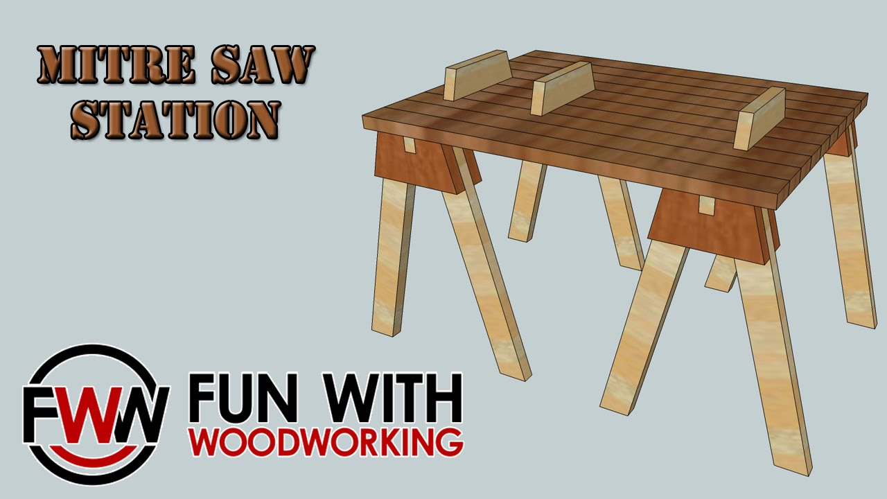 how to make a quick and easy mitre saw station out of shop. Black Bedroom Furniture Sets. Home Design Ideas