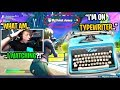 I met a kid who plays Fortnite using a TYPEWRITER for a KEYBOARD... (must see)