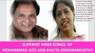 Superhit Hindi Songs Of Mohammad Aziz And Kavita Krishnamurthy II Best Bollywood Hindi Songs II 2019