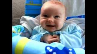 Baby makes cute cooing noises - compilation