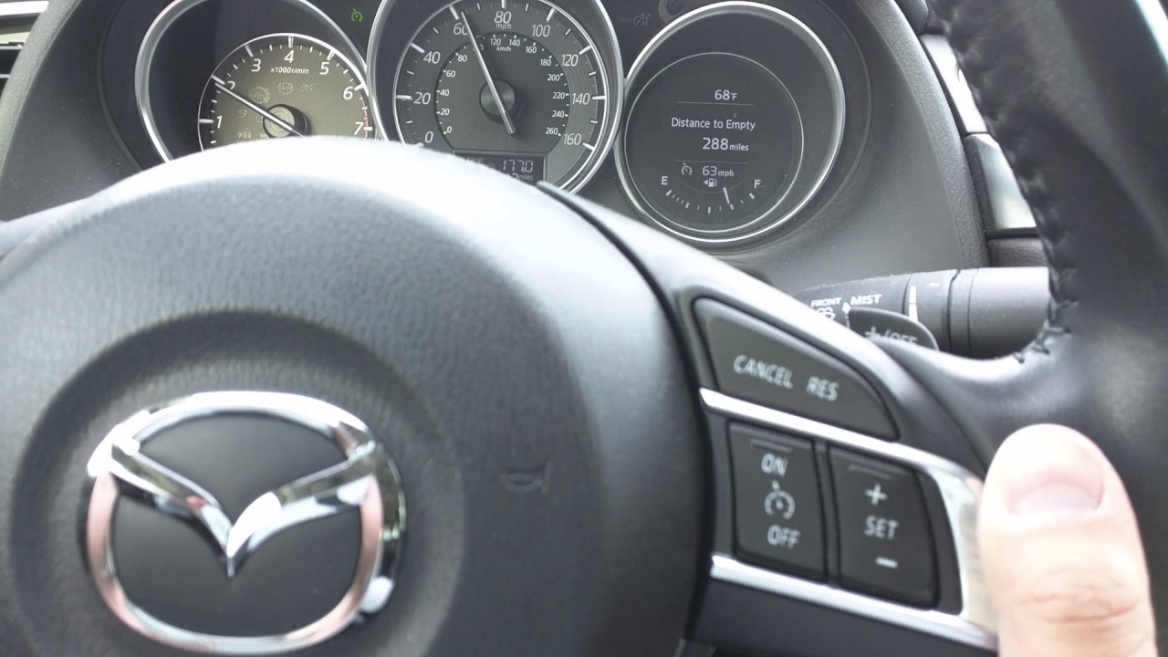 2016 mazda 6 cruise control speed glitch - youtube