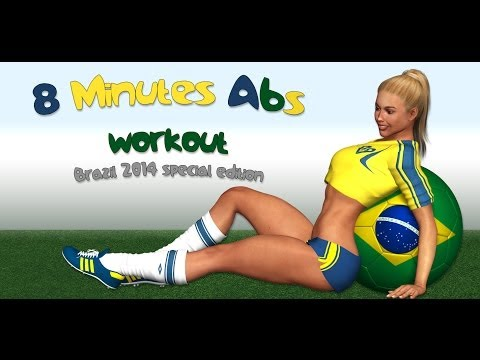 8 Min Abs  Brazil 2014 Edition  No Music