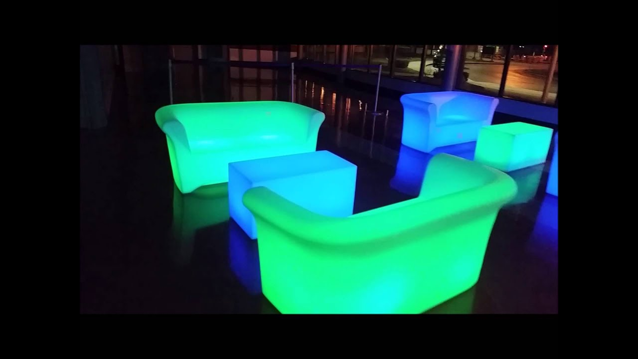 Glow Furniture Led Glow Furniture Rentals Sales Ships From Chicago Il 630