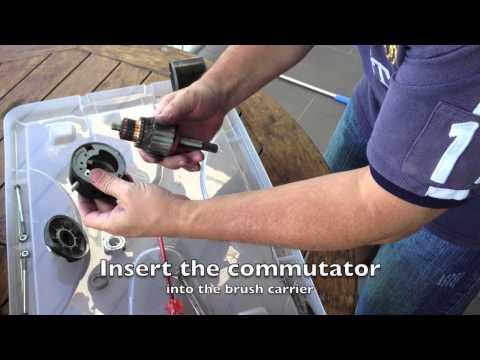 Starter Motor Brush Replacement