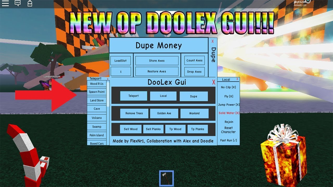 New Op Doolex Gui Out Now For Lumber Tycoon 2 New Updated Script