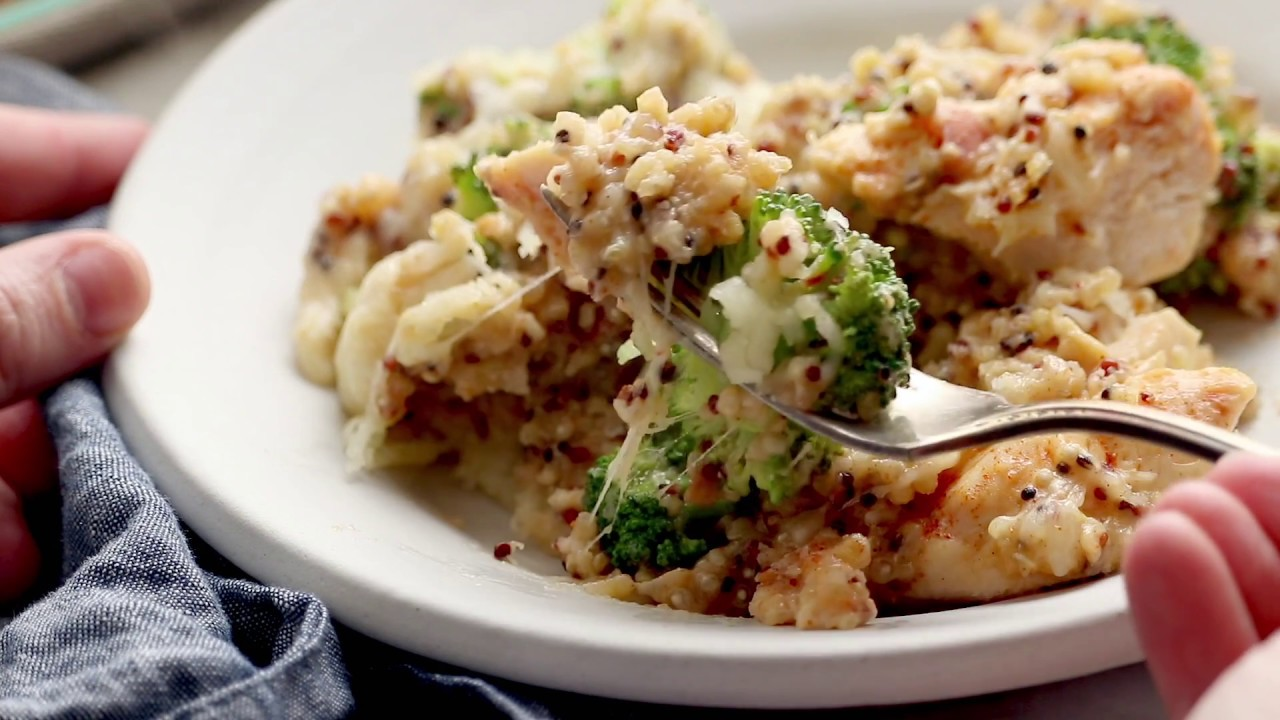 Creamy Chicken Quinoa And Broccoli Casserole - Youtube-6302
