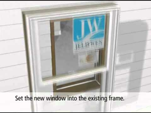 Jeld Wen Pocket Replacement Double Hung Window Youtube