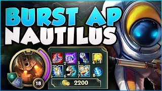 CAN ANYONE SURVIVE THIS FULL AP NAUTILUS BURST?? NAUTILUS SEASON 8 TOP GAMEPLAY! - League of Legends