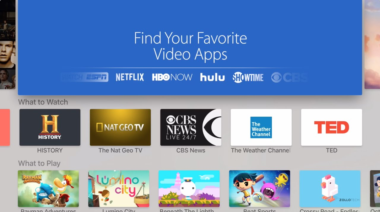 how to add app store to apple tv