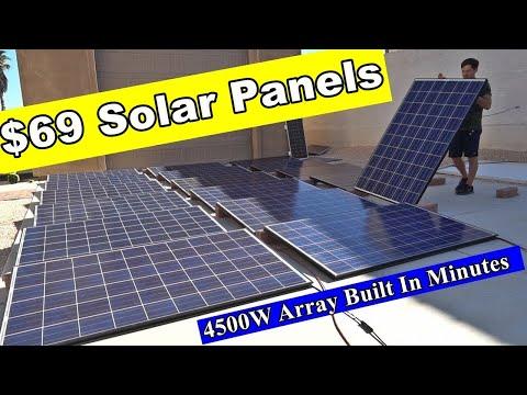 Dirt Cheap Solar Panels: 250W for $50