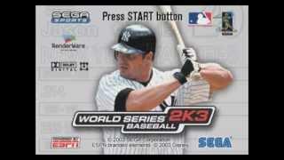World Series Baseball 2k3 - Menu Music #2