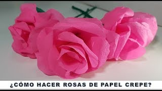 Como hacer rosas de papel crepe / Flores de papel crepe/ DIY