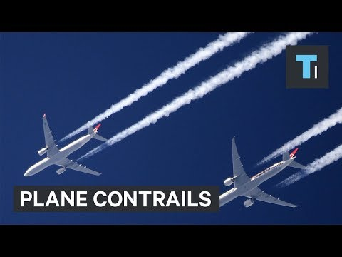 Why jets leave white trails in the sky