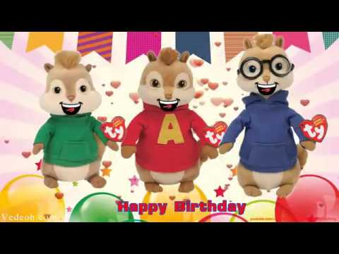 Happy Birthday Song Alvin and The Chipmunks   Nursery Rhymes Kids Songs