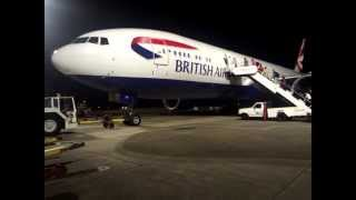 First Class in BA 777-200 - Bermuda to Gatwick - BA2232 - Takeoff and Landing