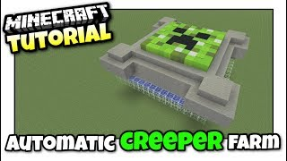 Minecraft Xbox - CREEPER FARM [ Automatic ] Tutorial - MCPE / PS4 / PS3 / Switch