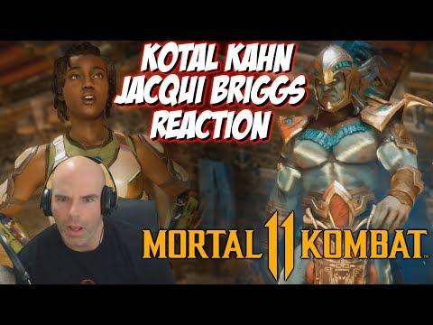 Kotal Kahn and Jacqui Briggs Reaction | Mortal Kombat 11 Gameplay Reveal thumbnail