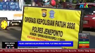 Polres Jeneponto Gelar Operasi Patuh, Plat Dinas Ikut Diamankan